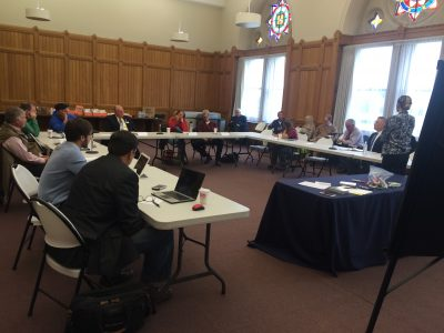 Agricultural producers at listening session
